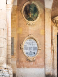 Wall of Palazzo Ducezio Town Hall in Noto city Stock Photos