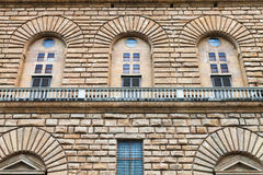 Wall of Palazzo Pitti in Florence Stock Images