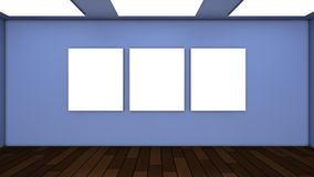 Wall panel and frame. 3d rendering. Wall panel and frame Royalty Free Stock Image