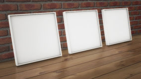 Wall panel and frame. 3d rendering. Wall panel and frame Stock Photos