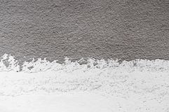 Wall panel grunge white,light grey concrete backdrop.Dirty,dust grey wall concrete,cement blackboard texture and splash black colo. R brush stroke for royalty free stock photography