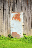 Wall panel mixed wood and metal texture. Wall panel mixed wood and old metal texture Royalty Free Stock Images