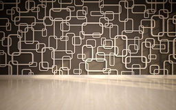 wall panels used as background. Stock Image
