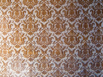 Wall paper. Old golden wall paper, background Royalty Free Stock Image