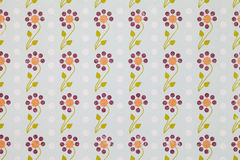Wall paper. Abstract vintage paper with flower pattern Stock Images