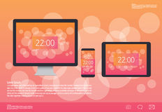 Wall Paper on digital Devices,tablet, mobile, PC computer. Stock Image