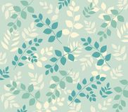 Wall-paper with leafy pattern Royalty Free Stock Images