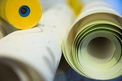 Wall-papers vinylic pour la réparation d'une salle image libre de droits