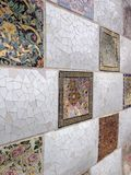 Wall in Park Guell, Barcelona, Spain Stock Image