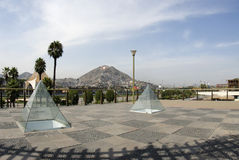 The wall park lima peru. Architecture the wall park with mountains lima peru south america Stock Photography