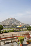 The wall park lima peru. With view of mountains and residences with tourists Stock Photography