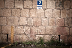 Wall of parking Stock Photography