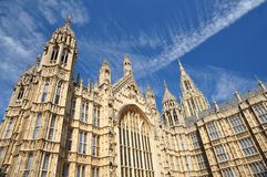 Wall of Parliament in London UK Stock Images