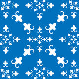 Wall pattern 2. Vector background with geometrical patterns (blue version Royalty Free Stock Photo