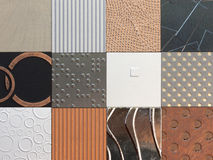 Wall pattern collection Royalty Free Stock Photo