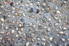 Wall pattern of gravel stone Royalty Free Stock Image