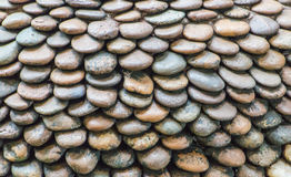 Wall pattern of gravel stone. The Wall pattern of gravel stone Stock Images