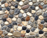 Wall pattern of gravel stone Stock Photography