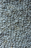 Wall pattern of gravel stone Stock Image