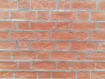 Wall pattern. Horizontal ecofriendly brick royalty free stock image