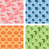 Wall pattern set 1. Set of different geometrical patterns Royalty Free Stock Images