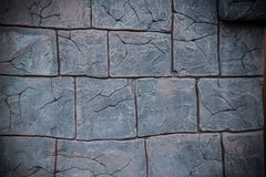 Wall with pattern of stone and brick Royalty Free Stock Photo