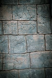 Wall with pattern of stone and brick Stock Images
