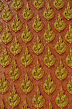 Wall pattern in thai style. The wall pattern in temple and palace of thailand Stock Photo