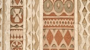 Wall pattern traditional ornate texture Royalty Free Stock Photo