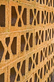 Wall with pattern and ventilation. Stock Photography