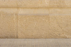 Wall with pavaing backdrop Stock Photos