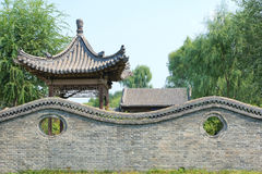 Wall and pavilion Royalty Free Stock Photo