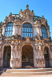 Wall pavilion of the Zwinger - palace in Dresden, Germany. Royalty Free Stock Photography