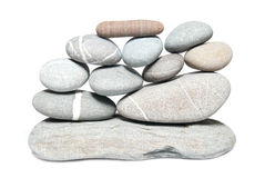 Wall of pebbles Stock Images