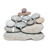 Wall of pebbles Stock Photos