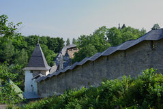 Wall of the Pechorsky monastery Stock Photography
