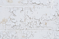 Wall with peeling paint Stock Images