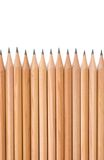 Wall of Pencil Tips - Straight Royalty Free Stock Photos