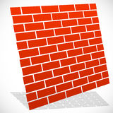 Wall in perspective. Brickwall for construction, building or obs Stock Images