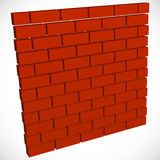Wall in perspective. Brickwall for construction, building or obs Royalty Free Stock Image