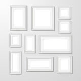 Wall photo frames collection illustration Royalty Free Stock Photo