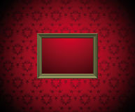 Wall with  picture frame Royalty Free Stock Images