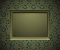 Wall with  picture frame Stock Photo