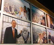 Wall with pictures of vips who have visited the ESB Observatory Stock Photo