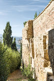 Wall in Pienza Stock Image