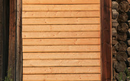 Wall from pine boards Royalty Free Stock Image