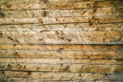 Wall of planks unfinished Stock Photo
