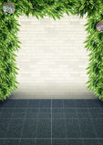 Wall plants frame background Royalty Free Stock Photos
