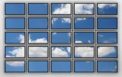 Wall of plasma tvs Stock Images
