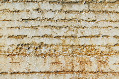 Wall plaster with ruts. Close up Royalty Free Stock Photo